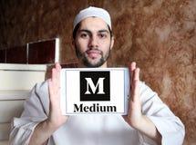 Logo moyen de site Web Images stock