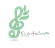 Logo music nature Royalty Free Stock Photos