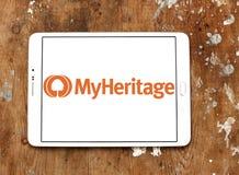 MyHeritage online genealogy platform logo. Logo of MyHeritage on samsung tablet. MyHeritage is an online genealogy platform with web, mobile, and software royalty free stock photo