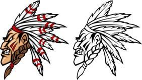 logo naczelna indyjska maskotka royalty ilustracja