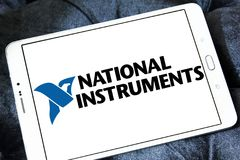 Logo national de société d'instruments Photo stock