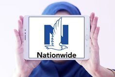 Nationwide Mutual Insurance Company logo. Logo of Nationwide Mutual Insurance Company on samsung tablet holded by arab muslim woman. Nationwide Mutual Insurance Royalty Free Stock Photo