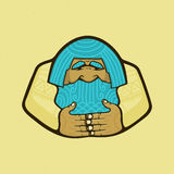 Logo of a native inhabitant. An old man, an Eskimo Stock Images