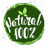 Logo Natural with leaves, natural product. Organic food badge in. Logo Natural with leaves, natural product, organic, healthy food. Organic food badge in vector stock illustration