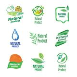 Logo of natural product Stock Images