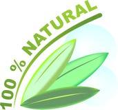 Logo - 100 % natural Stock Photo