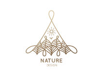Logo Nature stock de ilustración