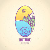 Logo Nature Foto de archivo libre de regalías