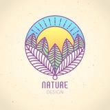 Logo Nature Fotografia Stock Libera da Diritti
