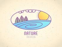 Logo Nature Fotografia Stock