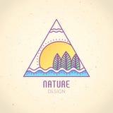 Logo Nature Royaltyfria Bilder