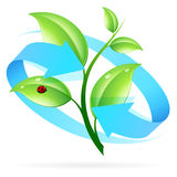 Logo Nature Recycle Stock Photography