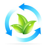 Logo Nature Recycle Royalty Free Stock Image