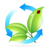 Logo Nature Recycle Stock Photo