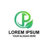 Logo naturel de l'initiale P Photographie stock