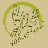 Logo naturlig 100% Royaltyfria Foton