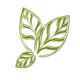 Logo naturlig 100% royaltyfri illustrationer