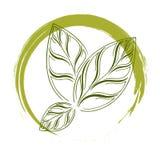 Logo naturlig 100% Arkivbild