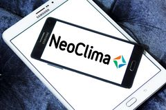 NEOCLIMA climate equipments manufacturer logo. Logo of NEOCLIMA brand on samsung mobile. NEOCLIMA is an international manufacturer of modern and reliable climate Stock Images