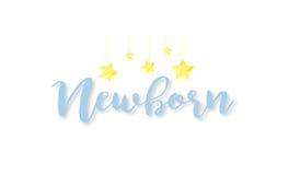 Logo neonato Immagine Stock