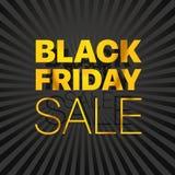 Logo nero di vendita di venerdì Annerisca venerdì Immagini Stock Libere da Diritti