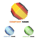 Logo nested cubes Stock Photography