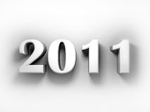 Logo of new 2011. ( 3d rendering Stock Photo