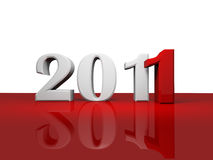 Logo of new 2011. ( 3d rendering Stock Images