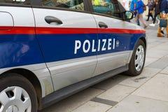 Logo on the New Austrian Federal police car. VIENNA, AUSTRIA - OCTOBER 09, 2018: Logo on the New Austrian Federal police car stock photos