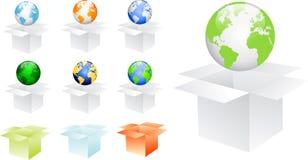 Logo new world Royalty Free Stock Photos