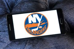 New York Islanders ice hockey team logo stock illustration