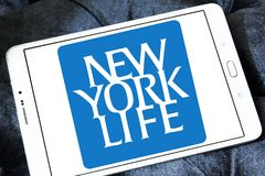 New York Life Insurance Company logo. Logo of New York Life Insurance Company on samsung tablet . New York Life Insurance Company ,NYLIC, is the largest mutual Royalty Free Stock Image