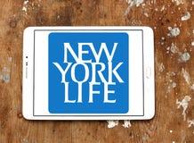 New York Life Insurance Company logo. Logo of New York Life Insurance Company on samsung tablet on wooden background. New York Life Insurance Company ,NYLIC, is Stock Photos