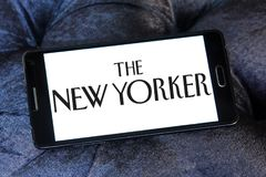 The New Yorker magazine logo. Logo of The New Yorker magazine on samsung mobile.The New Yorker is an American magazine of reportage, commentary, criticism Royalty Free Stock Photos