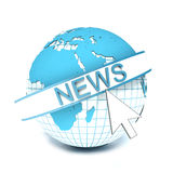 Logo NEWS on globe Stock Image