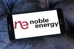 Noble Energy company logo. Logo of Noble Energy on samsung mobile. Noble Energy, Inc., formerly Noble Affiliates, Inc., is an American petroleum and natural gas Royalty Free Stock Image
