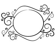Logo noir décoratif de page Web illustration de vecteur