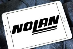 Nolan Helmets manufacturer logo. Logo of Nolan Helmets manufacturer on samsung tablet . Nolan Helmets SpA is an Italian motorcycle helmet Royalty Free Stock Images