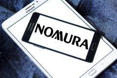 Nomura Holdings logo. Logo of Nomura Holdings on samsung mobile. Nomura Holdings is a Japanese financial holding company and a principal member of the Nomura Royalty Free Stock Photo