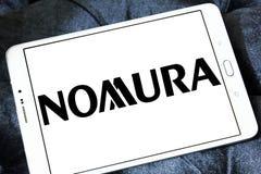 Nomura Holdings logo. Logo of Nomura Holdings on samsung tablet. Nomura Holdings is a Japanese financial holding company and a principal member of the Nomura Stock Photos