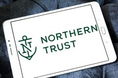 Northern Trust Corporation logo. Logo of Northern Trust Corporation on samsung tablet . Northern Trust Corporation is a financial services company. It provides Stock Photo