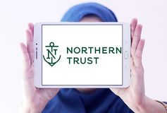 Northern Trust Corporation logo. Logo of Northern Trust Corporation on samsung tablet Royalty Free Stock Photography