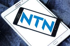 NTN Corporation logo. Logo of NTN Corporation on samsung mobile. NTN Corporation is one of the most prominent manufacturers of bearings in Japan stock photos
