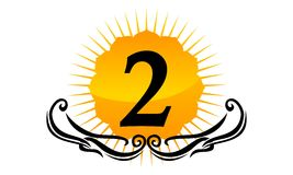 Logo Number moderno 2 Immagine Stock