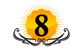 Logo Number moderno 8 Immagini Stock