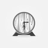 Logo o icona di legno del barilotto della birra royalty illustrazione gratis