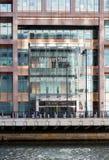 Logo o segno per Morgan Stanley in Canary Wharf Fotografia Stock