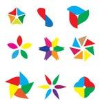 Logo Objects colorido abstracto Imagenes de archivo