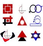 Logo- och designbeståndsdelar Arkivbild