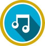 Logo och mall för melodi solid royaltyfri illustrationer